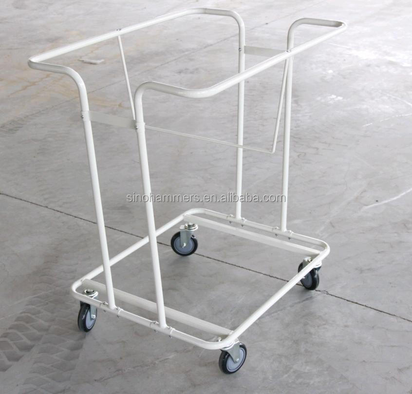 hospital laundry cart with wheels