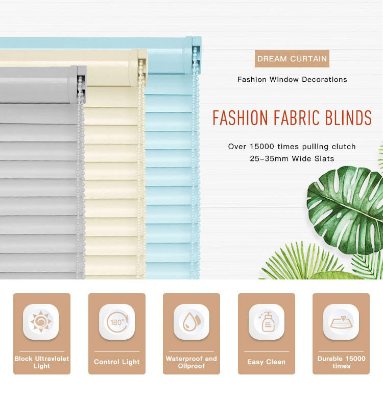 New Design Faux Wood Blinds Hot Product Fabric Venetian Roller Shades