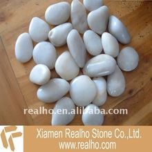 Pure white marble pebbles