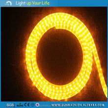 2016 Mirrored Ceiling Tiles Decor Lights Yellow Color Swimming Pool Lighting Flat 3 Wires LED Rope Light