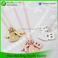 fashion for teens stainelss steel new design alphabet pendant