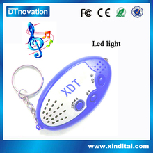 Kids gift with music led keychain with voice recorder with low price