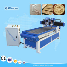 Stepmores 700*2000mmhigh speed Double heads usb port 3d wood cnc router price