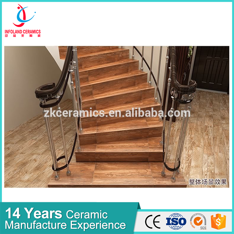 wood ceramic stair glaze tile for sublimation print