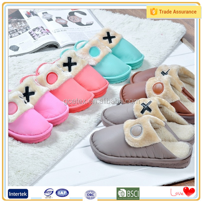 All kinds colorful duck down duvet wholesale slippers