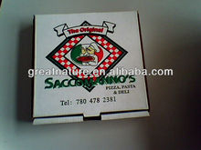Green folding paper pizza boxes