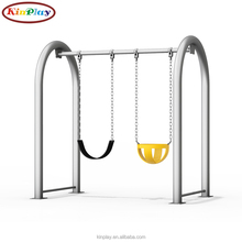 KINPLAY Brand Kids Playground Swing U Shaped Double Swing Children Garden Swing For Sale