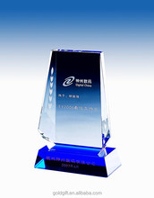 2015 blue business crystal award gifts for wholesale