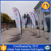 wholesale flutter flags bowed flying banner stands printed teardrop flags