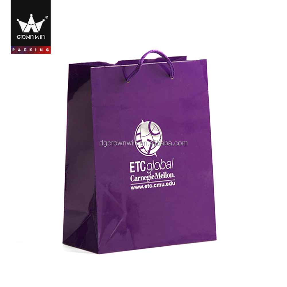 Wholesale promotional logo printed recyclable custom cheap paper big shopping bags