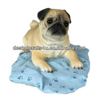 Pug Dog Figurine Home Decor Yard