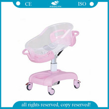 AG-CB011 Safety Steel frame baby carriage crib with castors