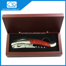 hight quality stainless steel wine bottle corkscrew opener with laguiole