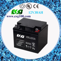 12V UPS batteries 12V 38AH Lead aid battery used for solar street light system