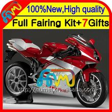 7gifts For MV Agusta F4 05 06 Red silver 750 1000R 312 1078 11 MA 2005 2006 4CL97 Red silvery R312 750S 1000 R 05-06 Fairing