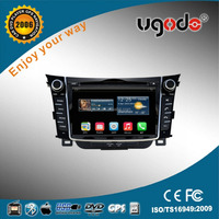 ugode 7 inch HD high quality auto car 2 din gps for hyundai i30 wholesale prices dvd player