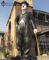 2016 Hot Sale Art Sculpture of Chaplin Fiberglass Statues
