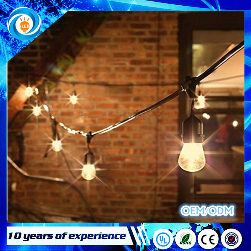 14.6M Waterproof 15 Balls LED Party Wedding Xmas Outdoor Decor String Lights