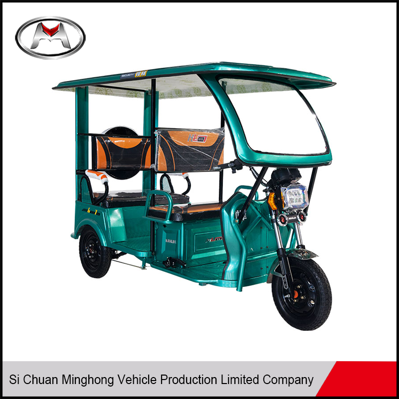 China enclosed passenger three wheel motor tricycle