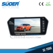Suoer Full HD 7 inch LED monitor bus car bluetooth mp5 rearview mirror tv monitor