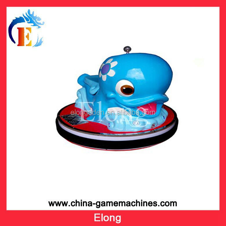 2014 Popular Children Funny Dolphin Coin Operated Battery Car
