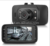 GS8000 Generalplus VGA chipset 120 degree wild angle car dvr black box 2.7inch screen car camera