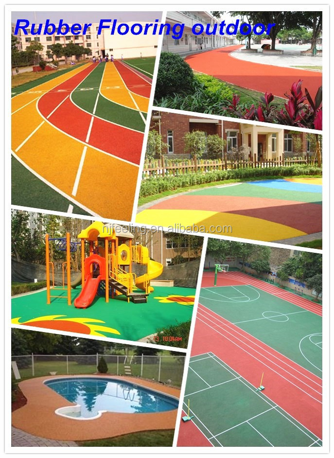 EPDM Rubber Flooring For Outdoor Sports Court, Rubber Flooring Outdoor -FN-D150530