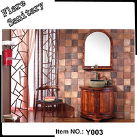 Wood bathroom furniture set floor model bath vanity