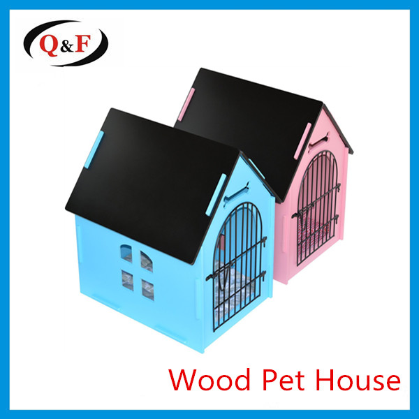 China pet luxury fold wooden bed cat play house