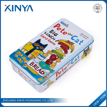 XINYA Wholesale China Goods Rectangular Toy Packaging Metal Tin Box With Game Cards