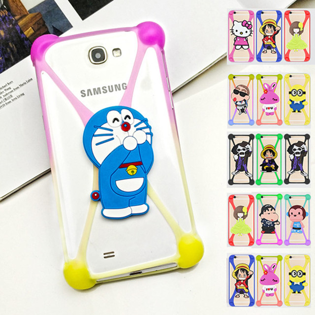 High Quality Silicone Elastic Phone Frame Bumper Case free Sample ,3d Silicone Phone Case