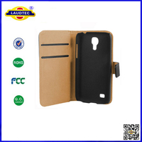 Hot Selling Luxury Genuine Real Leather Wallet Stand Case for Samsung Galaxy S4 Mini I9190 Case Made in China Laudtec