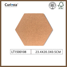 Wholesale good quality hexagon cork coaster cup mat without print coasters