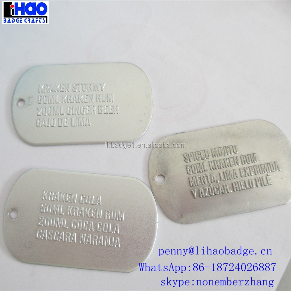 New promotional products cheap custom military dog tag