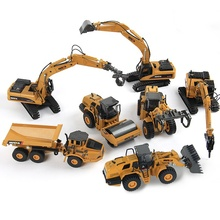TongLi toy 1/50 Huina 1710-1716 diecast model alloy professional engineering construction model vehicle toy