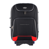 cheap lock customize logo zipper external beautidul lining ferric luggage trolley case