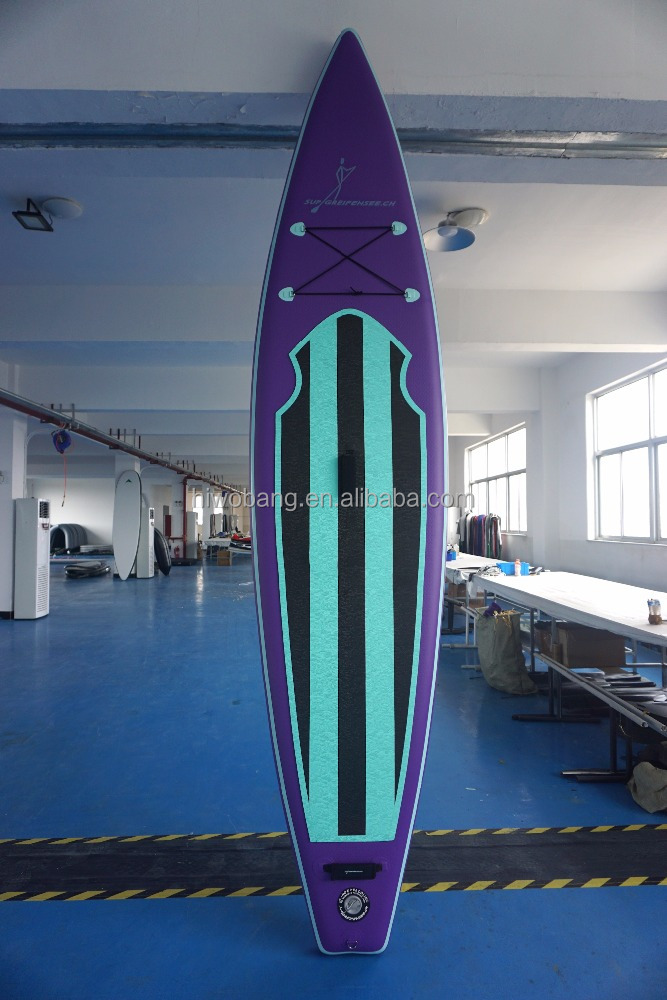 Surfing board for fun inflatable sup paddle board with three fins 0.9mm china pvc board