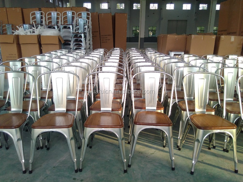White metal wedding chair cross back hotel furniture