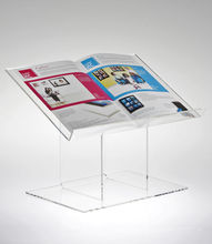Costom Color high quality beautiful acrylic open book display stand