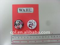 Business gift skull & dragon printed round metal tin button badge