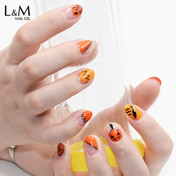 L&M China Supplier L&M Gelartist Pumpkin Color Latest Gel Nail Polish Kit