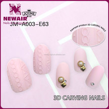 Long plain artificial nails artificial full curved nails wholesale