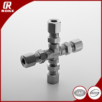 316 Stainless Steel Forged Hydraulic Cross Union