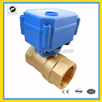 Brass Ball Valve electric control motorized water valve for HVAC Water Treatment