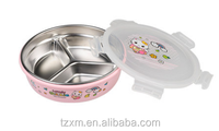 BPA FREE food grade safe 304 stainless steel 3 compartment kids food container