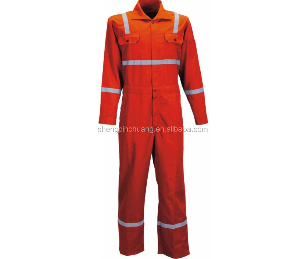 SPC-H025 Fire resistant workwear fire retardant safety coverall with price for oil and gas