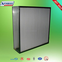 White Low resistance Deep Pleat HEPA Panel Filters, automotive air filters For A / C system, ventilation system