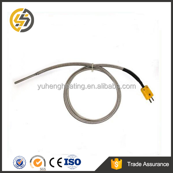 K/J/T type thermocouple with mini plug type and stainless steel tube