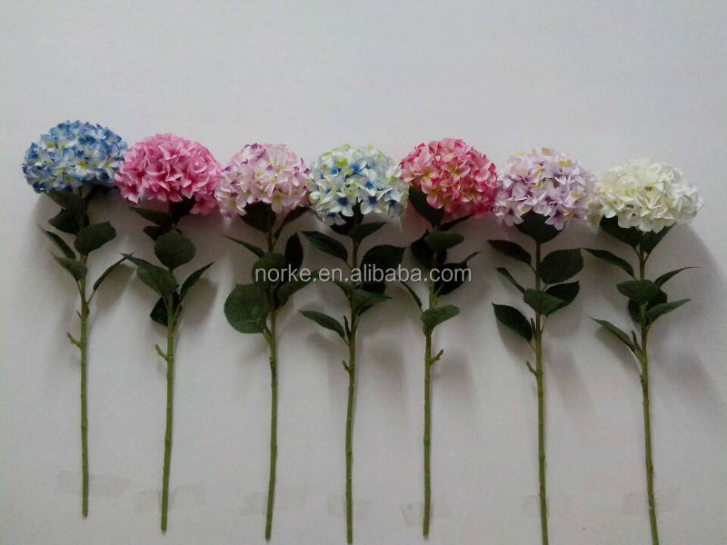 2014 top quality artificial hydrangea flower