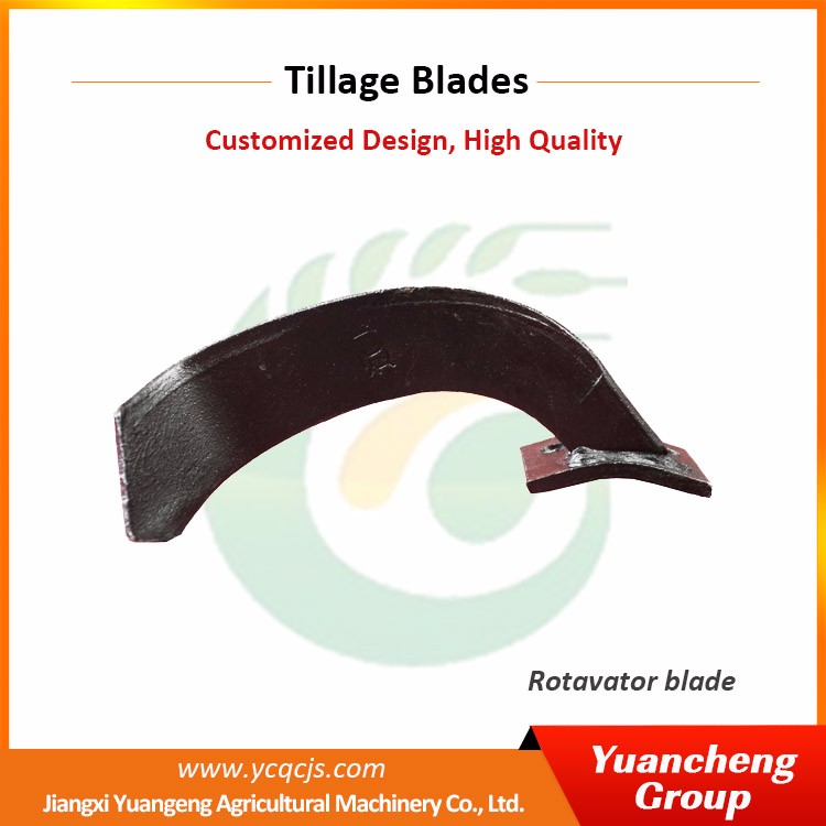 China Custom agriculture cultivator long power rotary tiller blade for farm tractor